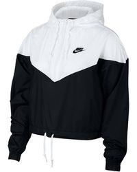 Nike Heritage Cropped Track Jacket - Black