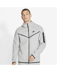 Nike Tech Fleece Full Zip Hoodie - Gray
