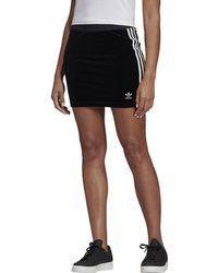 e46cd7e043 adidas Originals Originals Adicolour Mini Bodycon Skirt With 3 Stripe Logo  in Black - Lyst