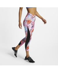29b9c9f314dc7 Nike Power 7/8 Hyper Femme Tights (pure Platinum/black) Women's ...