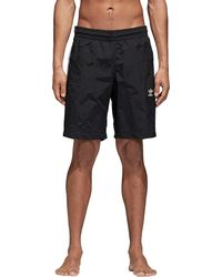 f4bacc6066 adidas Originals 3-stripes Swim Shorts in Black for Men - Save 29% - Lyst