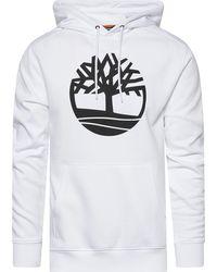 Timberland - Core Large Logo Tree Hoodie - Lyst