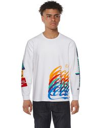 Champion Coca-cola Logo Long Sleeve T-shirt - White
