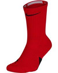 Nike Elite Crew Socks - Adult - Red