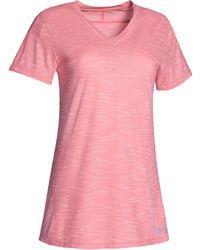 Under Armour Team Stadium Short Sleeve T-shirt - Pink