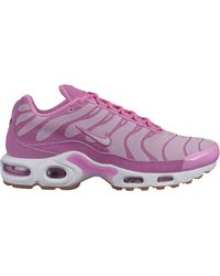 Nike Air Max Plus Premium Running Shoes - Pink