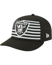 uk availability 14765 888ad KTZ Kids  Oakland Raiders Nfl Official On Field 59fifty Cap in Black for Men  - Lyst