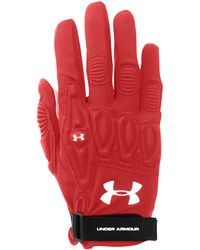 Under Armour Illusion Field Glove, Size One Size - Red