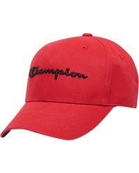Champion - Life® Classic Twill Hat, Script Logo - Lyst