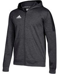 adidas Team Issue Fleece Full Zip Hoodie - Black