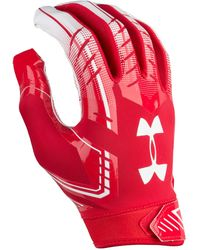 Under Armour F6 Football Gloves - Red