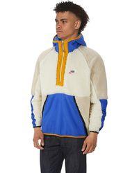 Nike Heritage Essentials Half Zip Sherpa Jacket - Blue