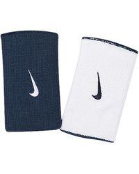 Nike Dri-fit Home & Away Doublewide Wristbands - Blue