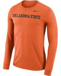 6590b49e Nike - Oklahoma State Cowboys College Df Cottom L/s Wordmark T-shirt -
