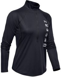 Under Armour - Speed Stride Split Wordmark 1/2 Zip - Lyst
