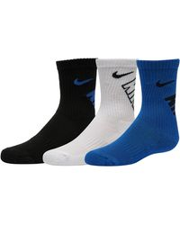 08a23755ae7f2 Nike Dri-fit Cotton Swoosh Hbr Crew Socks 3 Pack in Purple for Men ...