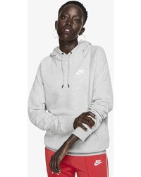 Nike Sportswear Essential Overhead Hoodie - Gray