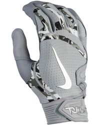 Nike Trout Elite Batting Gloves - Gray