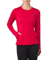 Asics Thermopolis Plus Long Sleeve Top - Red