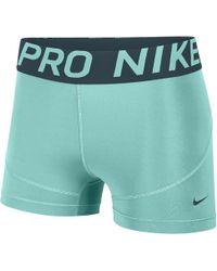 "Nike Pro 3"" Shorts - Green"