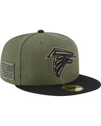 e120c2a4 KTZ Atlanta Falcons Training Bucket Hat in Red for Men - Lyst