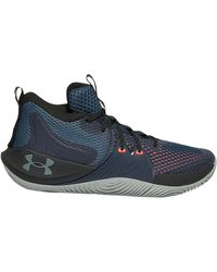 Under Armour Embiid One - Men's Basketball Shoes - Mechanic Blue / Black / Pitch Gray, Size 10.0