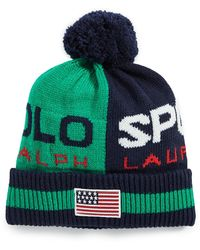 Polo Ralph Lauren Polo Sport Colorblock Cuff Hat - Green