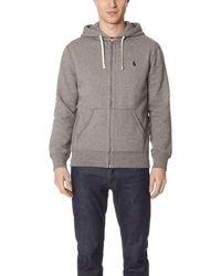 Polo Ralph Lauren - Classic Fleece Full-zip Hoodie Sweatshirt - Lyst