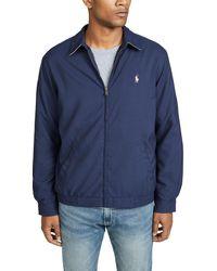 Polo Ralph Lauren Bi-swing Windbreaker Jacket - Blue