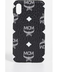 MCM - White Logo Visetos Iphone X Case - Lyst