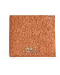 Polo Ralph Lauren Tailored Pebble Leather Bifold Wallet - Brown