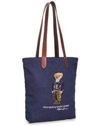 Polo Ralph Lauren Preppy Bear Shopper Bag - Blue