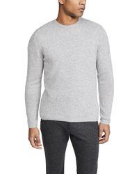 Vince Long Sleeve Plush Cashmere Jumper - Grey