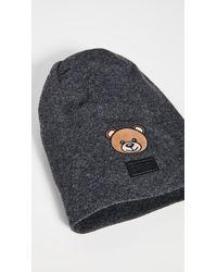 Moschino Logo Bear Beanie - Gray