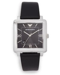 Emporio Armani - Modern Square Watch, 38mm - Lyst