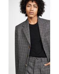 Marni Mirco Check Dry Wool Blazer - Black
