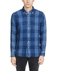 Faherty Brand Double Cloth Pacific Shirt - Blue