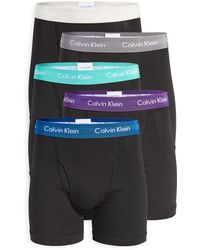 Calvin Klein Cotton Stretch 5 Pack Boxer Briefs - Black