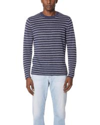 Vince - Long Sleeve Striped Crewneck - Lyst