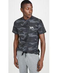 RVCA Va Sport Vent Short Sleeve Tee - Gray