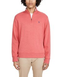 Polo Ralph Lauren Long Sleeve Double Knit Sweater - Pink