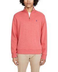 Polo Ralph Lauren Long Sleeve Double Knit Sweater - Pink