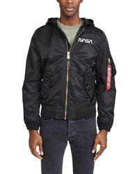 Alpha Industries L2b Hooded Nasa Ii Jacket - Black