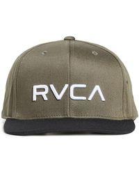 RVCA Twill Snapback Hat - Green