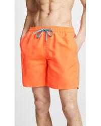 """Sundek 16"""" Basic Shorts With Piping - Orange"""