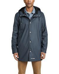 Stutterheim Stockholm Lightweight Raincoat - Blue