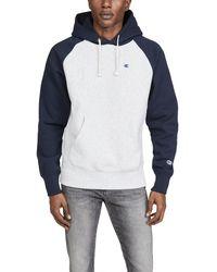 Champion Reverse Weave Colorblock Sweatshirt - Gray