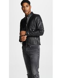 DIESEL - L-rushis Leather Jacket - Lyst