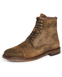 Shoe The Bear Curtis Waxed Suede Boots - Brown