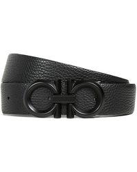 Ferragamo Double Gancio Reversible Belt - Black